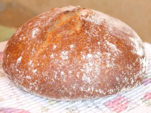 Хлеб без замеса с ржаным солодом