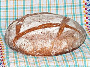 Домашний хлеб из муки 1-го сорта в духовке