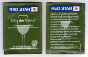 Red Star COTE DES BLANCS Epernay II Mead Cider Fruit Apple WINE DRY YEAST